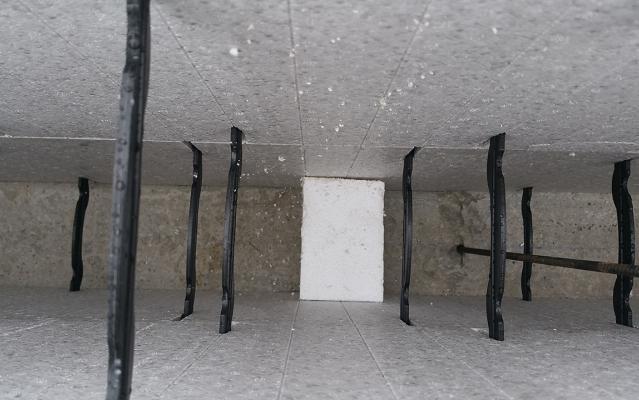 Installation des cales avant coulage